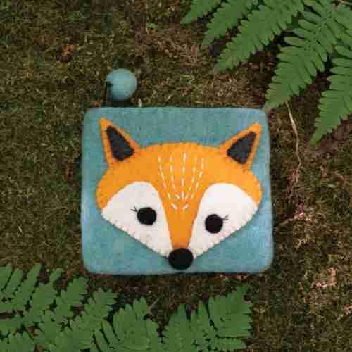 Fox Felt Coin Purse