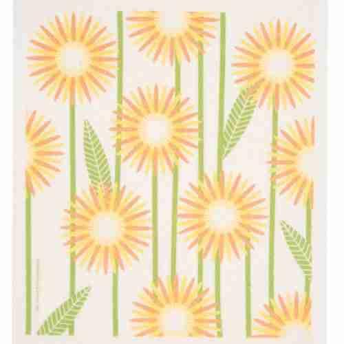 Swedish Dishcloth - Flowers (Yellow)