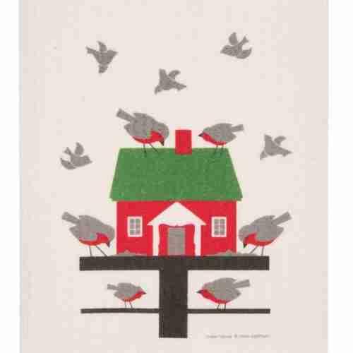 Swedish Dishcloth - Bird Feeder