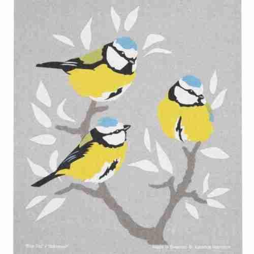 Swedish Dishcloth - Birds