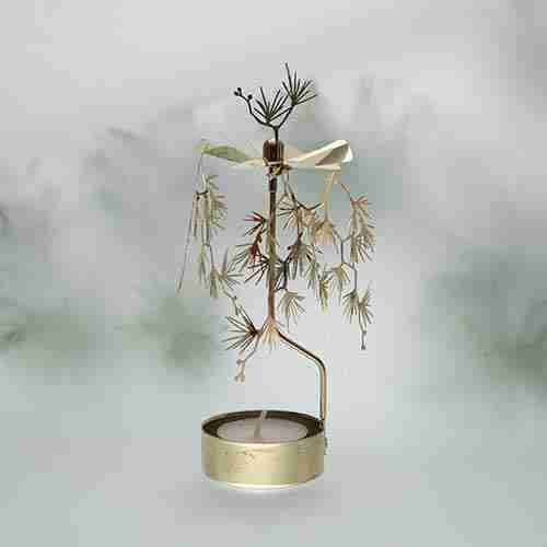 2013 white Pine candle holder