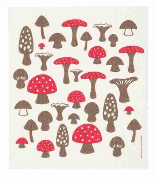 Swedish Dishcloth - Mushrooms
