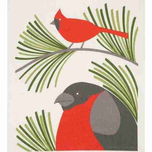Swedish Dishcloth - Red Robin