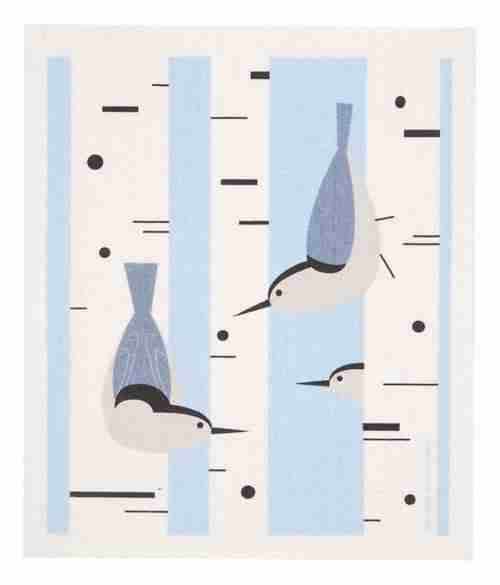 Swedish Dishcloth - Nuthatch