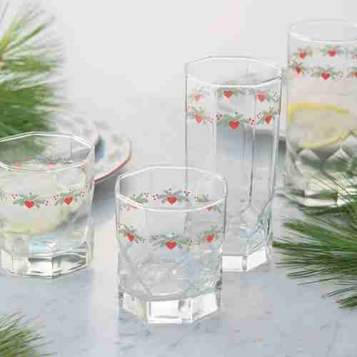 Hearts & Pines Glassware