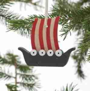 Viking Ship Ornament