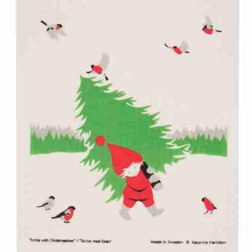 Swedish Dishcloth - Boy with tree