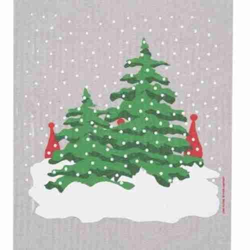 Swedish Dishcloth - Christmas Trees