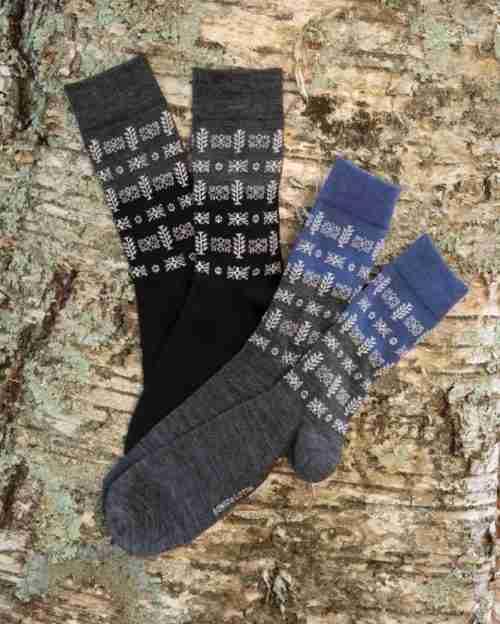 Merino Wool Swedish Socks - Birgitta Pattern