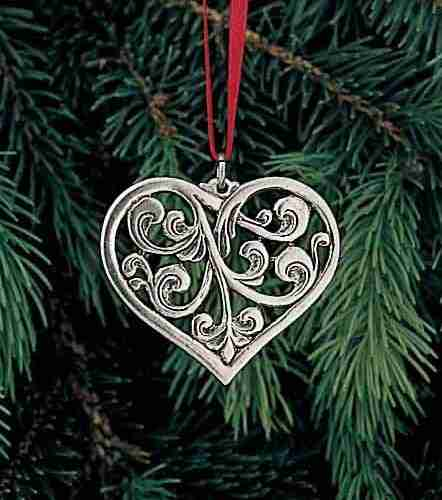 Heart Ornament - Rosemaled