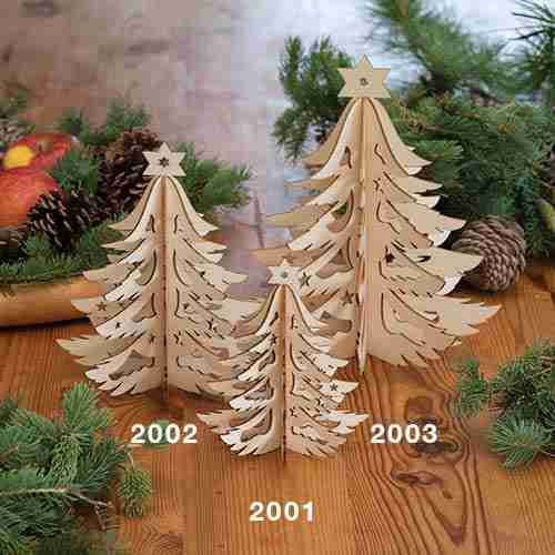 laser-cut wood decorations