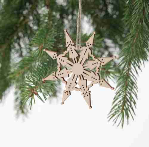 Laser-Cut Decorations - Snowflake