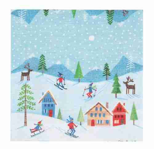 Skiers Paper Napkins