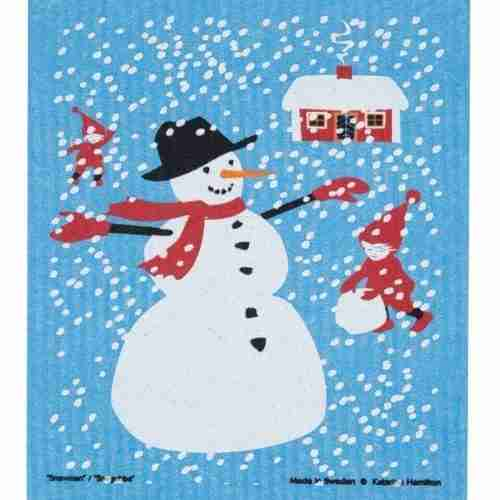 Swedish Dishcloth - Snowman