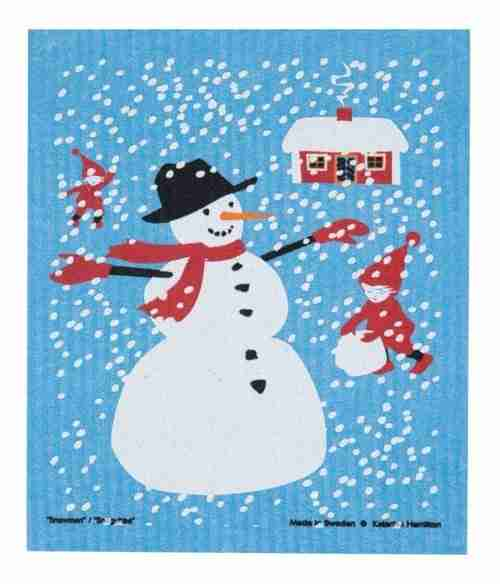 Swedish Dishcloth - Snowman
