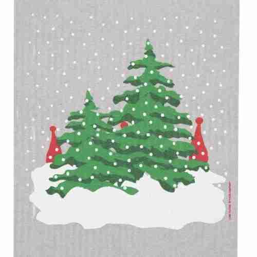 Swedish Dishcloth - Christmas Trees