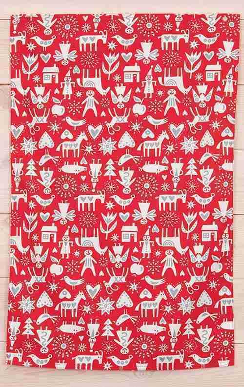 Klippan of Sweden Merry Christmas Pattern Towel