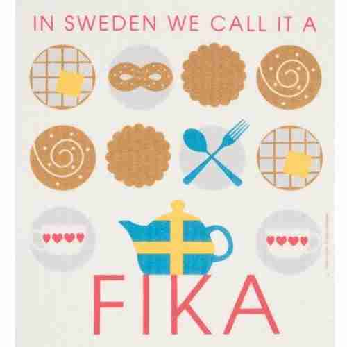 Swedish Dishcloth - Fika