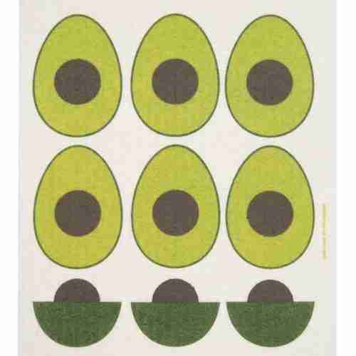 Swedish Dishcloth - Avocados