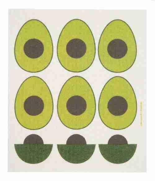 Swedish Dishcloth - Avocados