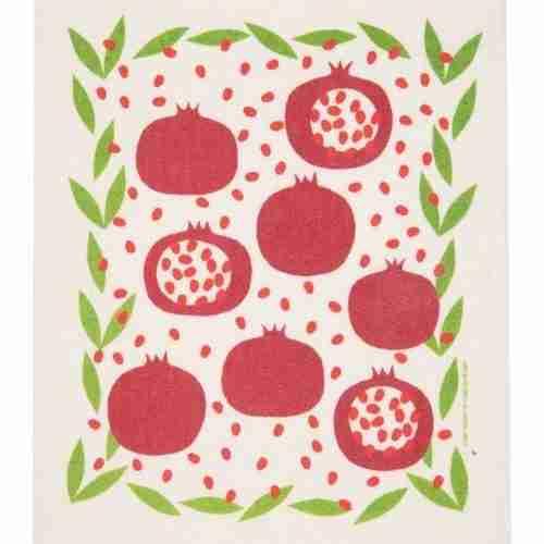 Swedish Dishcloth - Pomegranates