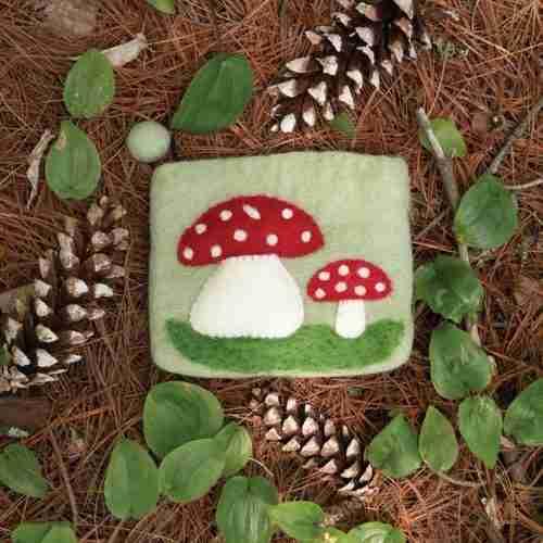 Mushroom Felt Purse