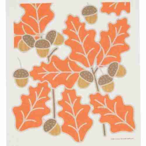 Swedish Dishcloth - Leaves & Acorns