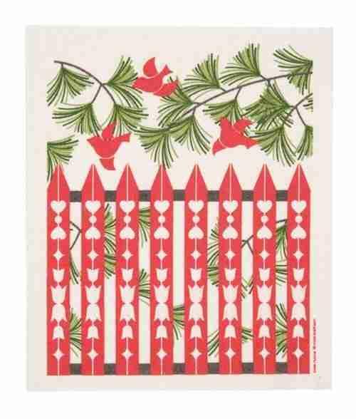 Swedish Dishcloth - Christmas Birds