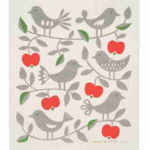 Swedish Dishcloth - Christmas Birds