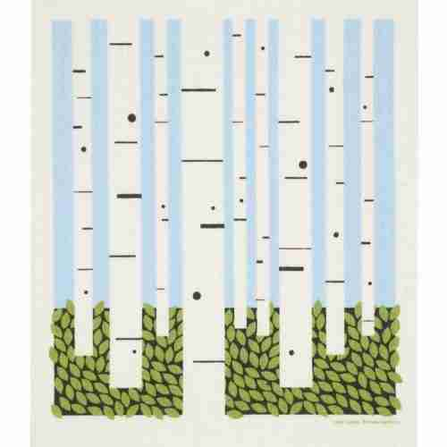 Swedish Dishcloth - Birch Trees