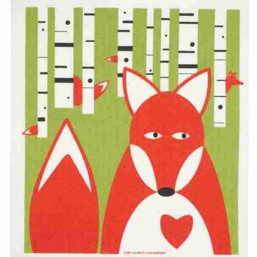Swedish Dishcloth - Fox