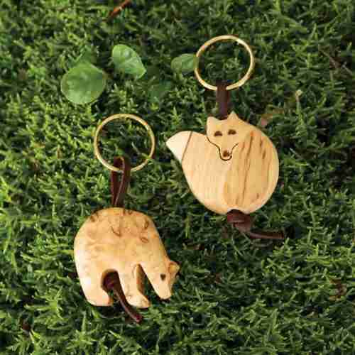 Finnish Birch Burlwood Keyring