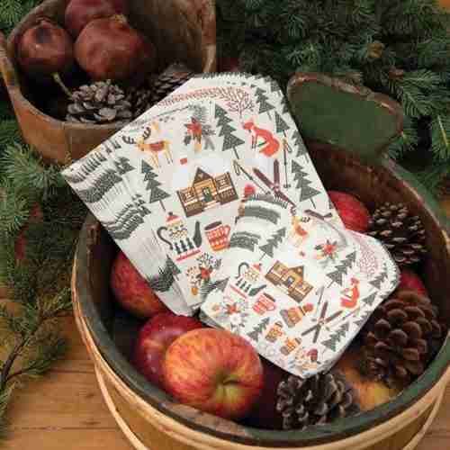 Winter Cabin Paper Napkins