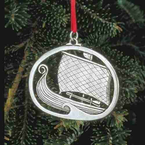 Norwegian Pewter Ornament