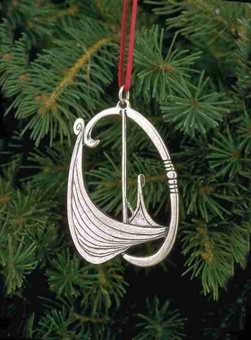 Norwegian Pewter Ornament