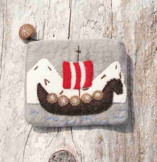 Felt Viking Ship Coin Purse