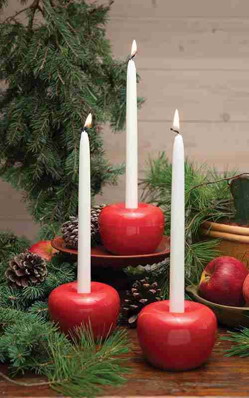 Born in Sweden Apple Candle Holders
