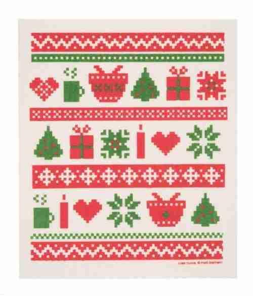 Swedish Dishcloth - Christmas