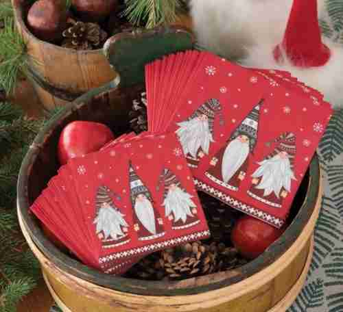 Scandinavian Napkins - Gnomes