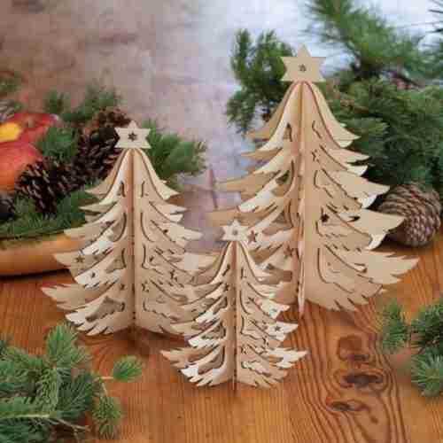Laser-Cut Wood Decorations
