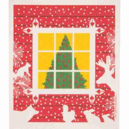 Swedish Dishcloth - Christmas Tree in the Window