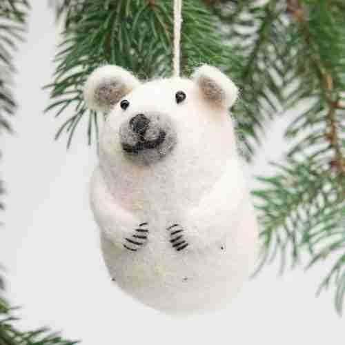 Felt Ornament - Bear