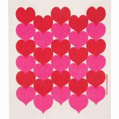 Swedish Dishcloth - Hearts