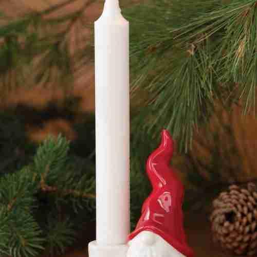 Ceramic Tomte Candle Holder